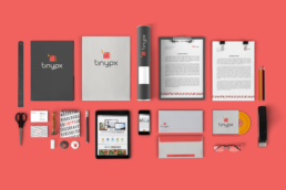 Tinypx branding and visual ID work by KIAI Agency in Burnaby BC