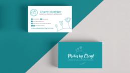 Photos by Cheryl business card design by KIAI Agency